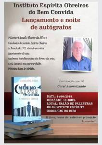 Lançamento e noite de autógrafos de Cláudio Bueno