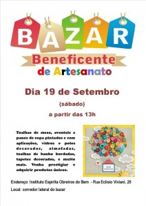 bazar beneficente 19 set